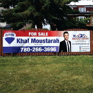 Banner Design, Manufacture & Install on Fence